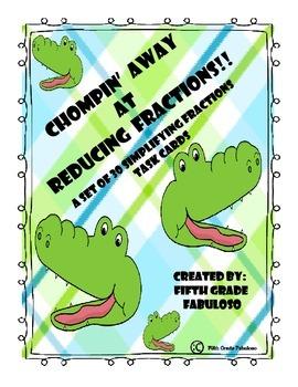 Chompin' Away at Reducing Fractions!! Reducing/Simplifying