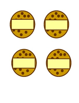 Chomp Chomp Chocolate Chip Cookies Flash Card Activity Set