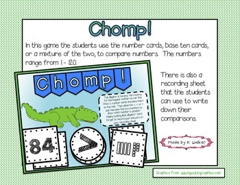 Chomp! - Comparing Numbers Game/Station