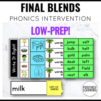 Phonics Intervention Games Final Blends