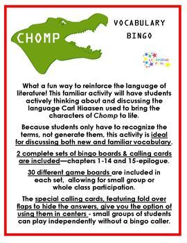 Chomp Vocabulary Bingo