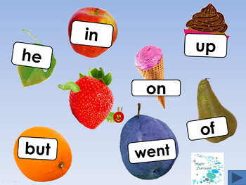 The Very Hungry Caterpillar - Caterpillar Chomp sight words and vocabulary pack