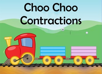 Choo Choo Contractions Flipchart