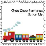 Choo Choo Sentence Scramble BUNDLE: Present + Present Progressive