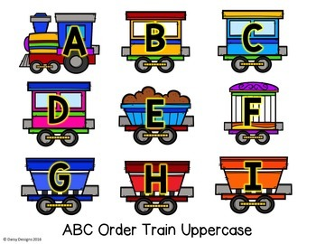 Alphabet and Phonics Centers - Choo! Choo!