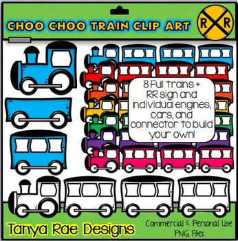 Choo Choo Train Clip Art by Tanya Rae Designs