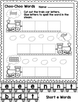 Choo-Choo Words CVC Practive - Supplement to Old Tracks, New Tricks