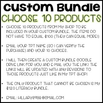 Choose 10 (Custom Bundles)