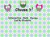 Choose 3 Interactive Math