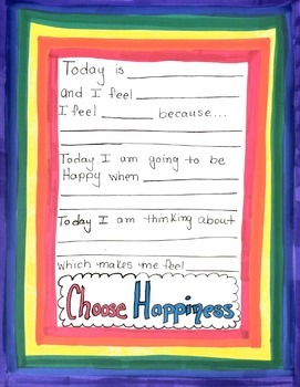 Choose Happiness Printable Guided Journal