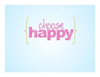 Choose Happy Poster