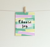 Choose Joy Printable // Classroom Decor