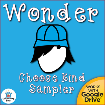 Choose Kind Activities for Wonder by R. J. Palacio Distance Learning