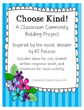 Choose Kind - Classroom Community Building Project