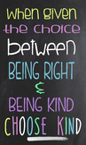 Choose Kind Poster -- Wonder Book