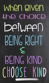 Choose Kind Poster -- Wonder Book