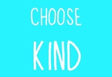 Choose Kind Posters