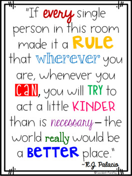 Choose Kind Posters and Activity