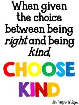 Choose Kind Sign