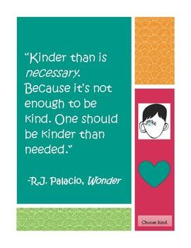 Choose Kind Wonder Poster