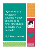Choose Kind Wonder Poster