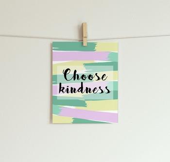 Choose Kindness Printable // Motivational Printable