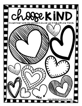 Choose Kindness Valentines Day Bulletin Board And Writing Activity Ideas
