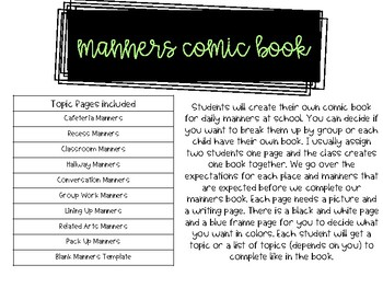 Choose Manners - Back to School / Soft Skills - Manners Mash Up