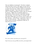 Choose me!!  NASA astronaut letter