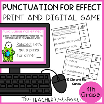 Choose Punctuation for Effect Game | Choose Punctuation for Effect Center