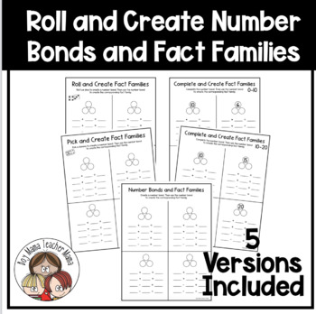 Choose/Roll and Create Fact Families Printable