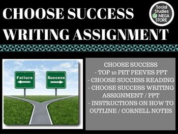Choose Success Writing Assignment