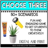 Choose Three! Ice Breaker Digital Learning Game