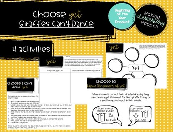 Choose Yet - Back to School / Soft Skills - Giraffes Can't Dance