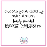 Choose Your Activity: Early Sounds Boom Cards
