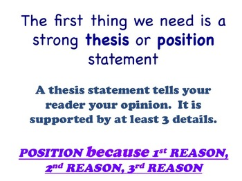 Choose Your Argument - A Common Core Opinion Writing Unit - Write a Thesis