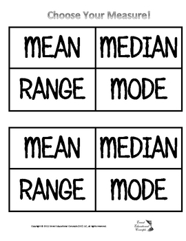 Choose Your Measure? (Central Tendencies and Range)