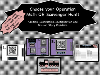 Choose Your Operation QR Scavenger Hunt