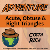 Adventure Math Worksheet -- Acute, Obtuse & Right Triangles -- Costa Rica