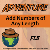 Adventure Math Worksheet -- Add Numbers of Any Length -- Fiji