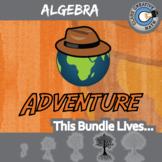 Choose Your Own Adventure -- ALGEBRA CURRICULUM BUNDLE -- 42+ Worksheets!