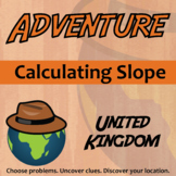Adventure Math Worksheet -- Calculating Slope -- United Kingdom