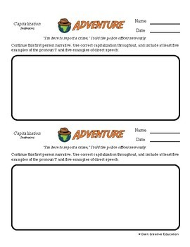 Adventure -- Capitalization - Creative Writing Prompts