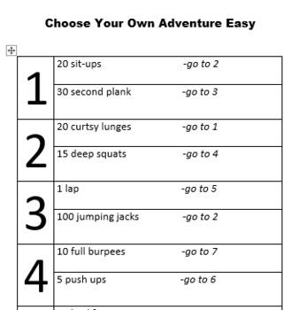 Choose Your Own Adventure Circuits (Three Editable Variations)