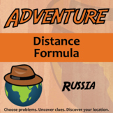 Adventure Math Worksheet -- Distance Formula -- Russia