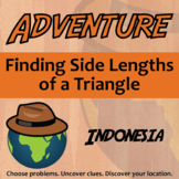 Adventure Math Worksheet -- Finding Side Lengths of a Triangle -- Indonesia