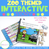 Interactive Adventure Story for Preschool Speech and Language Therapy: Zoo Theme