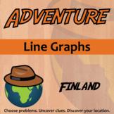 Adventure Math Worksheets -- Line Graphs -- Finland