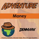 Adventure Math Worksheet -- Money -- Denmark