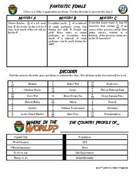 Adventure Math Worksheet -- Multiply Fractions by Whole Numbers - Togo